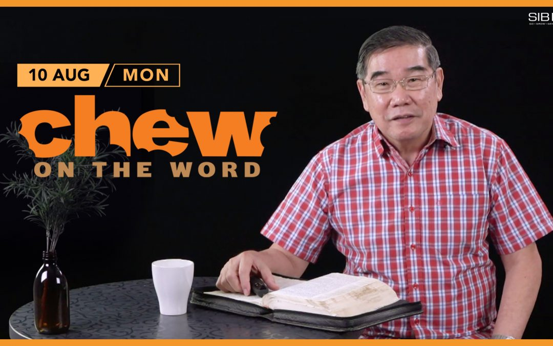 Focus to Complete Your Assignment by Pastor Chew